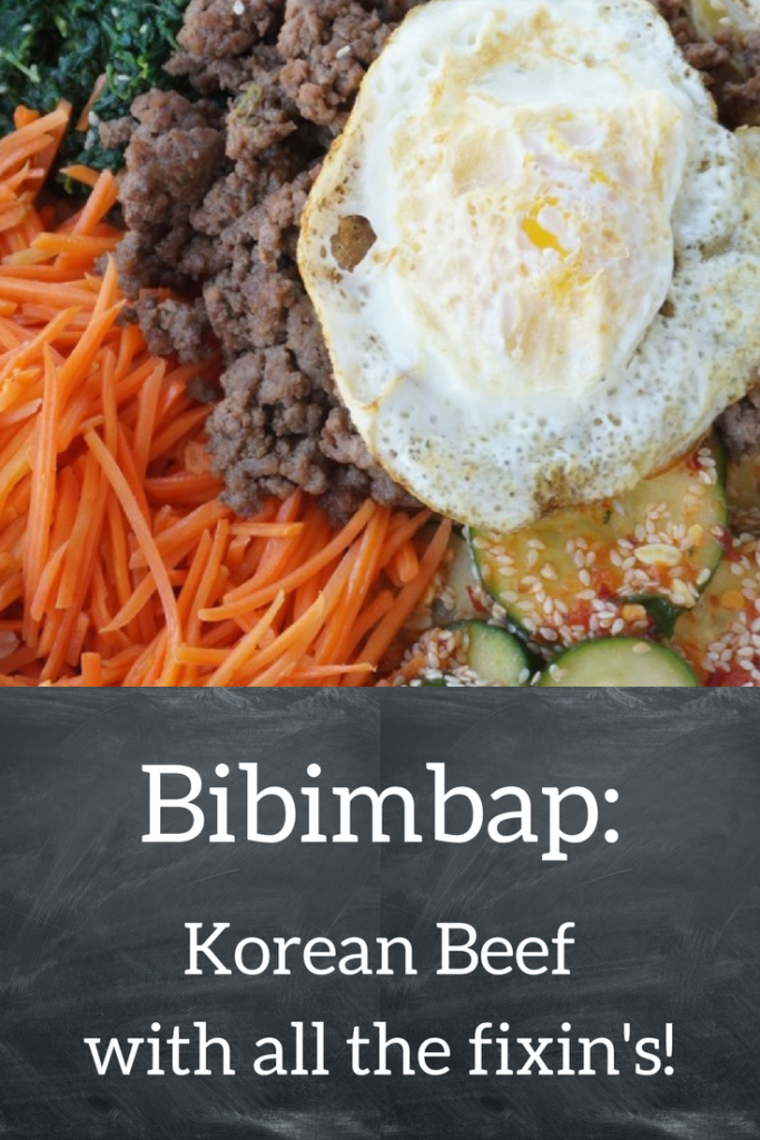 Mmm! Bibimbap is Korean Beef with all the fixin's!